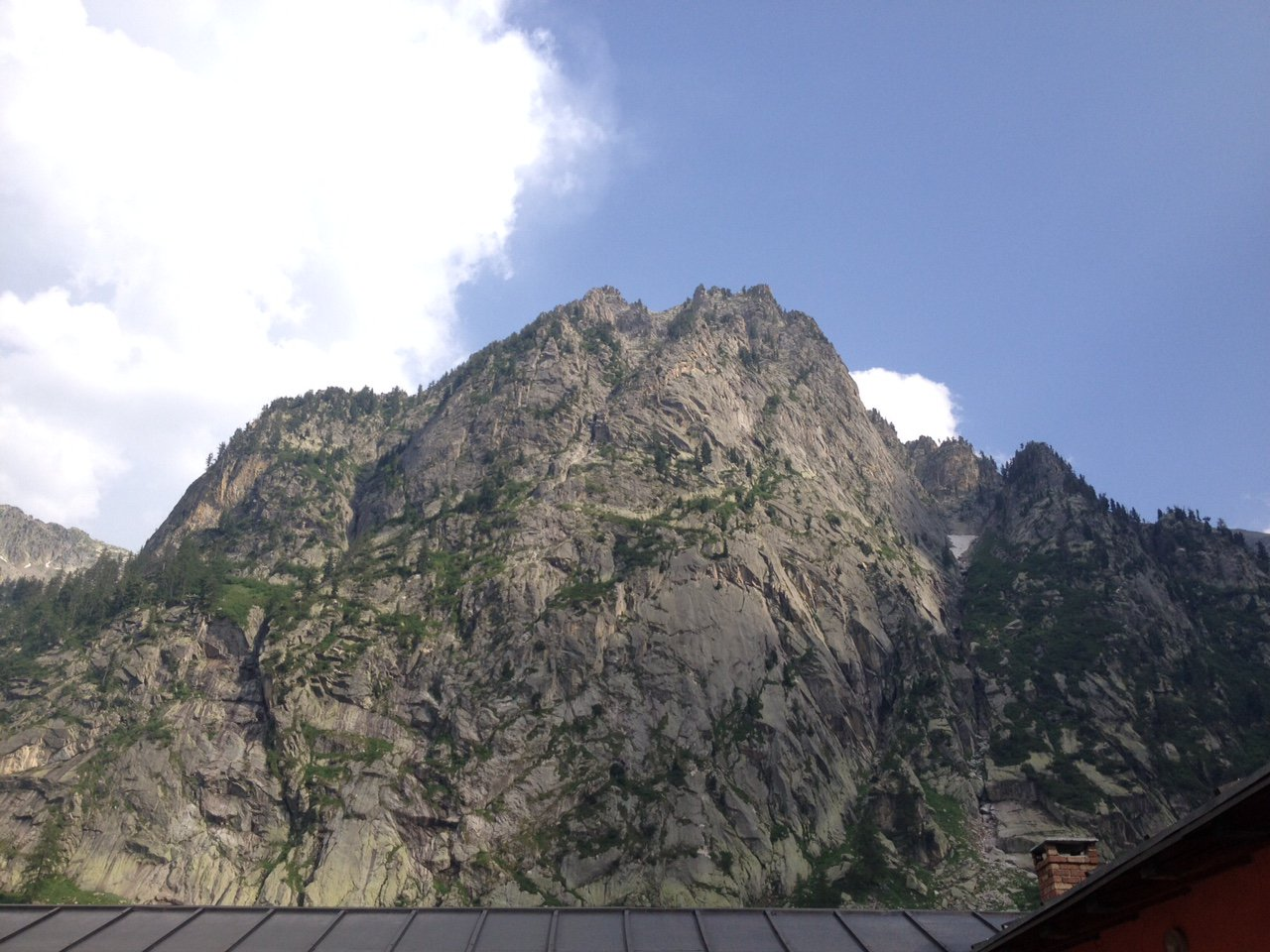 La cima di Valcuca vista dal Rifugio del Pian Valasco