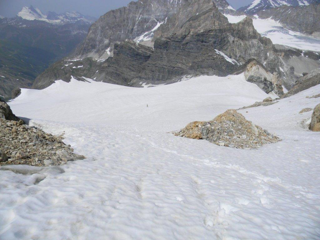 tratto mediano del ghiacciaio