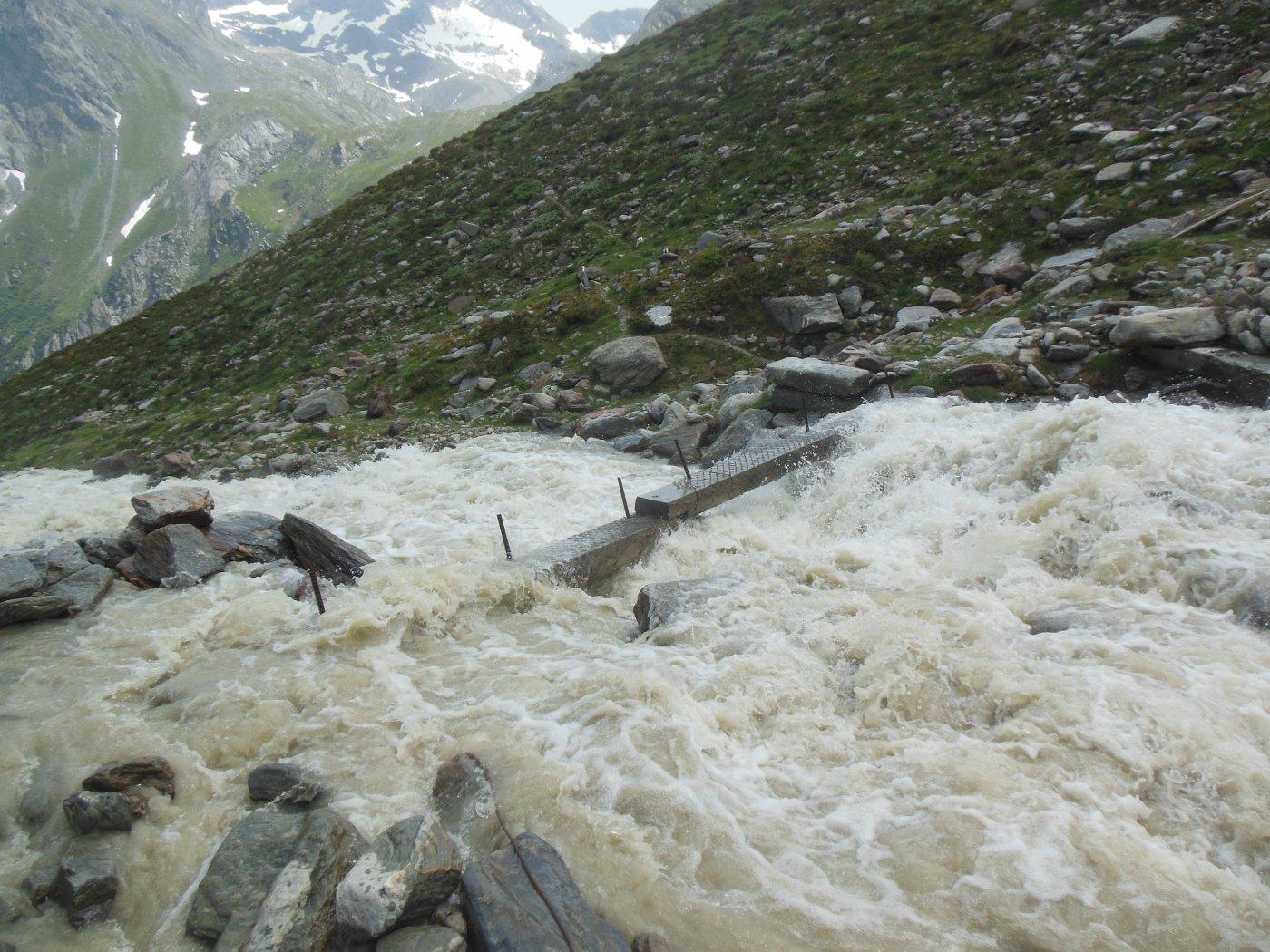 ponte su torrente del ghiacciaio del Lagginhorn