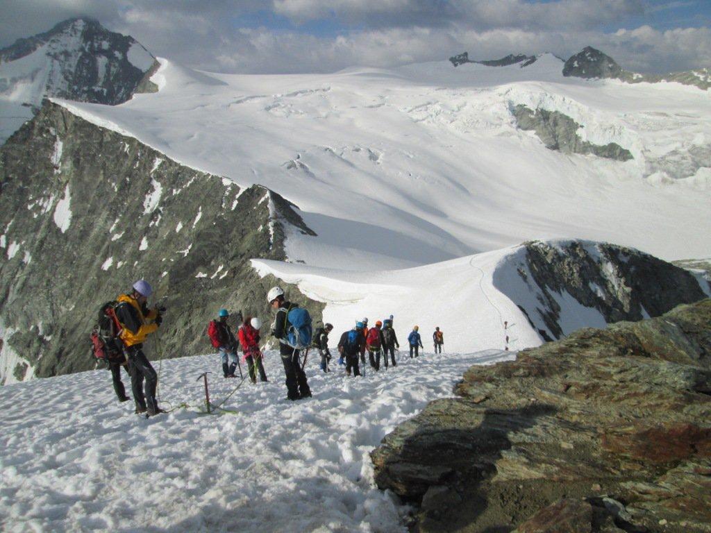 discesa sul ghiacciaio de Moiry
