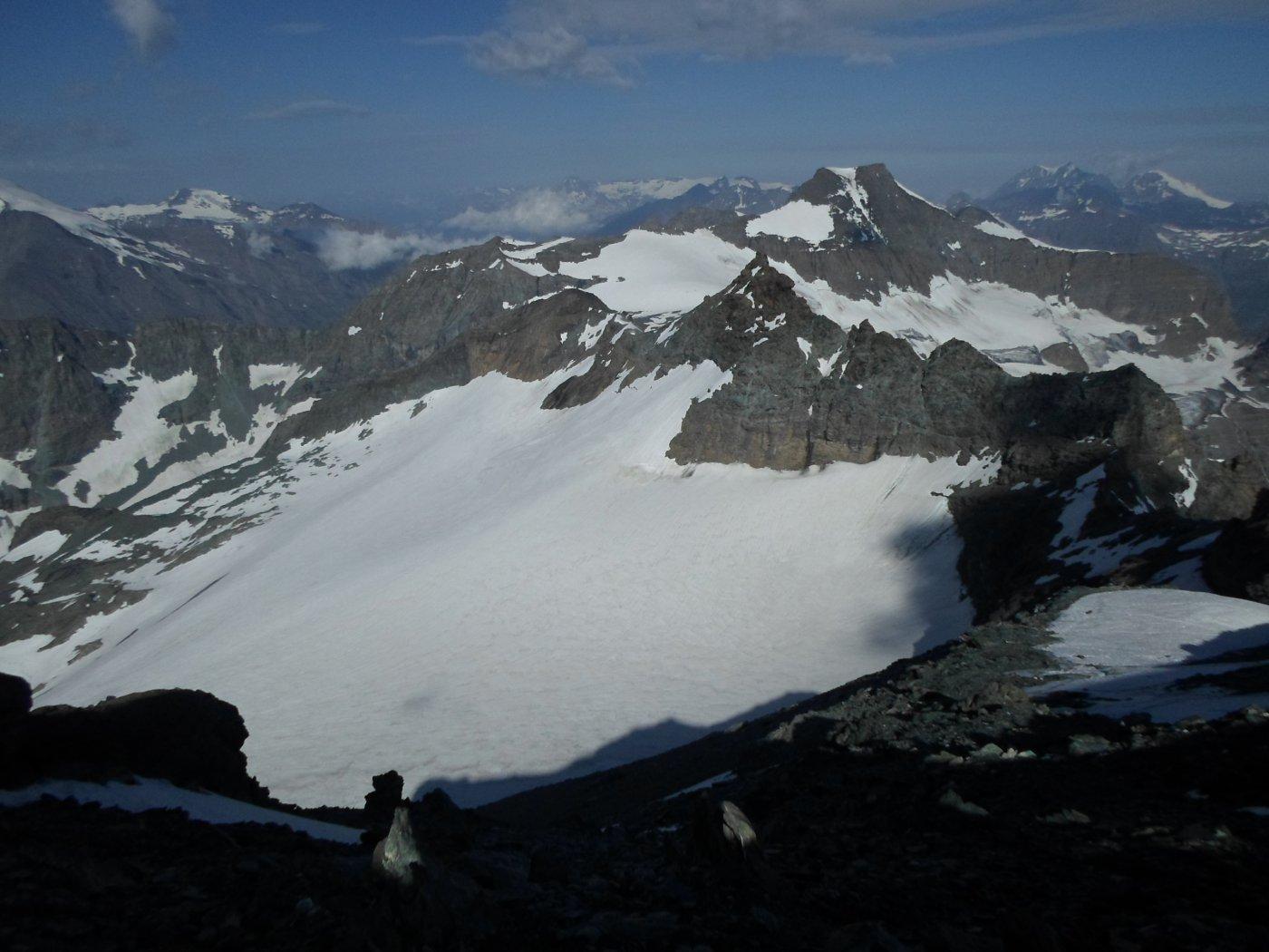 dalla vetta ghiacciaio
