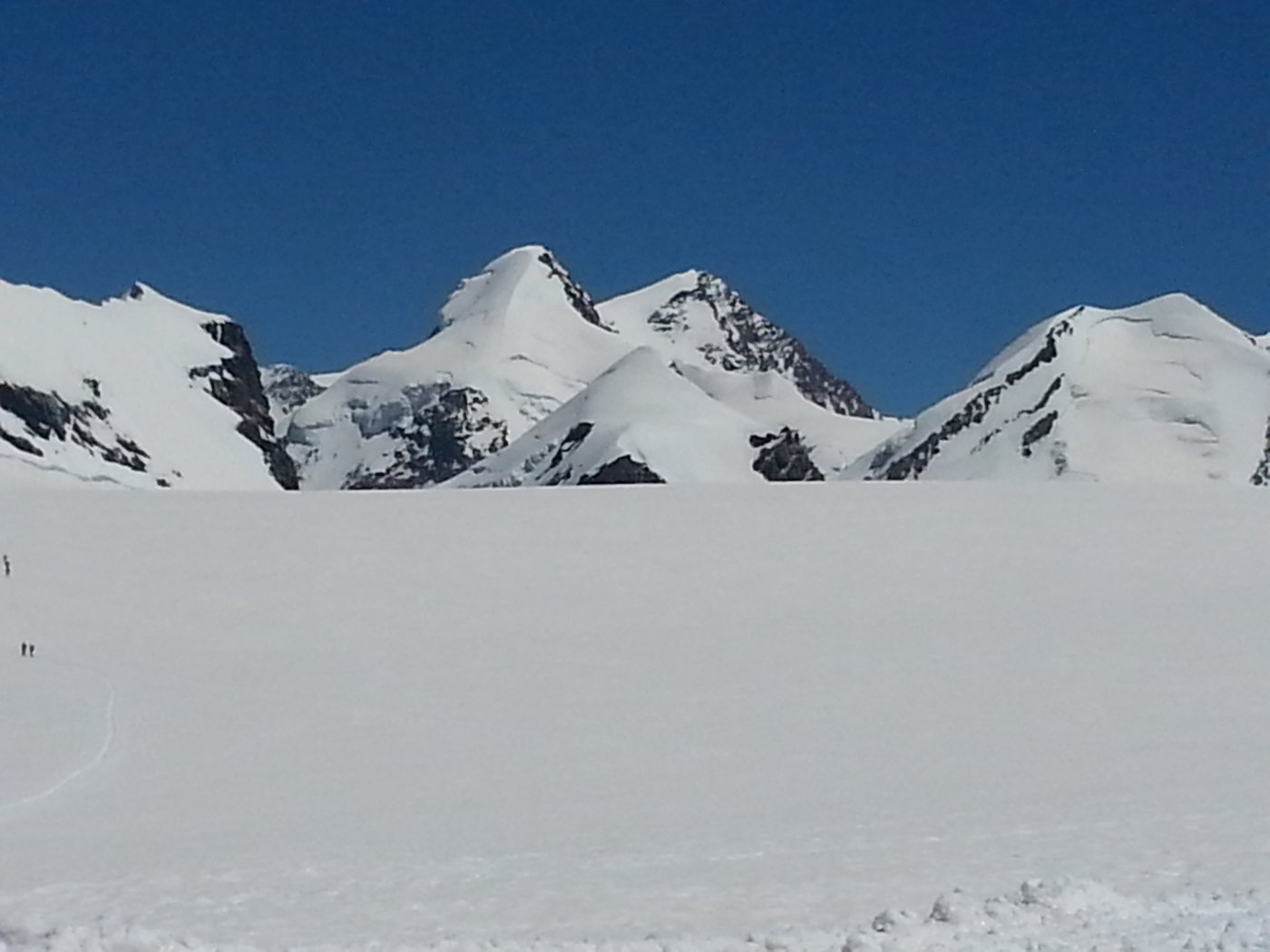 Breithorn Occidentale Via Normale da Plateau Rosà 2015-07-09