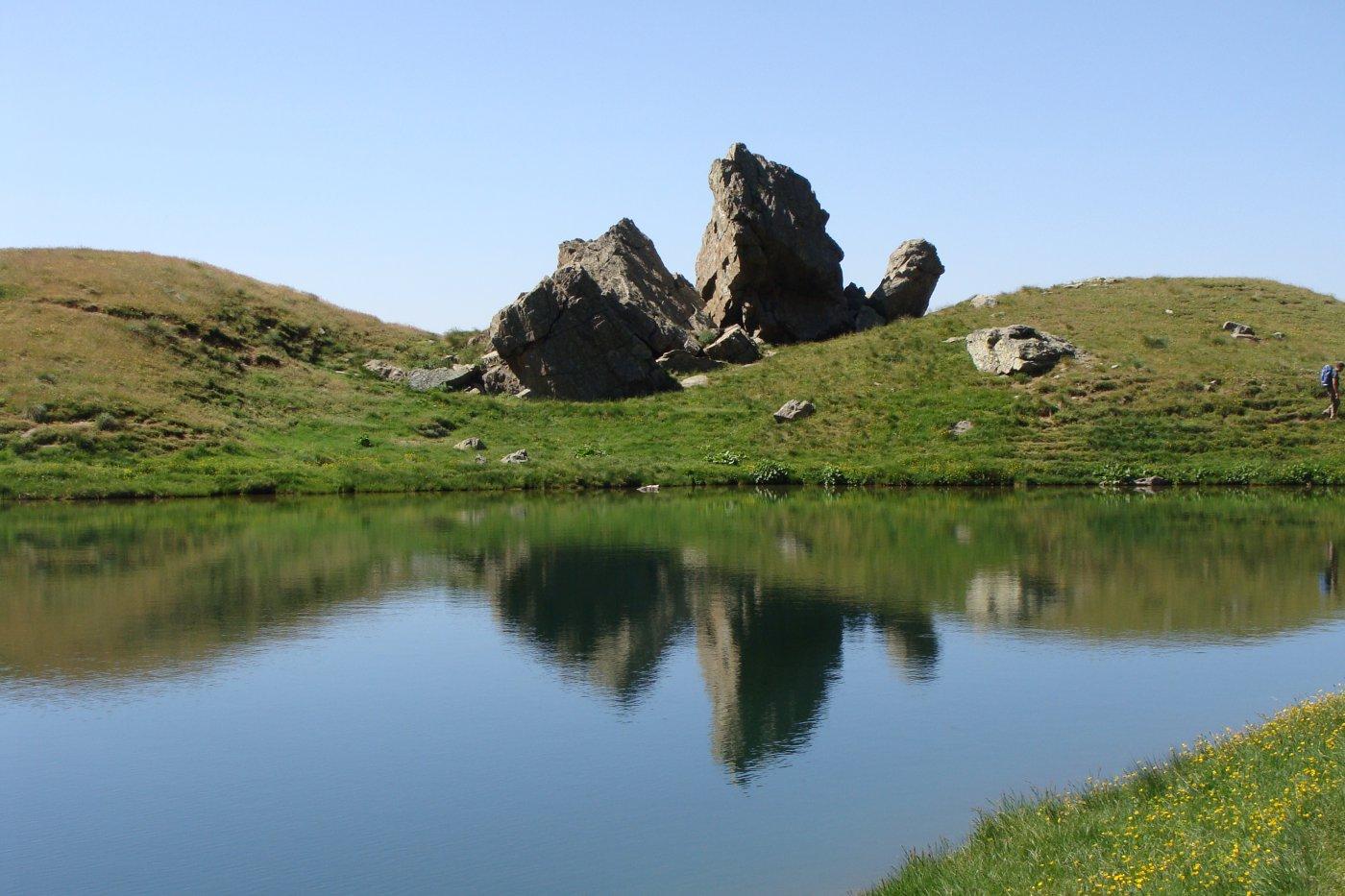 Cristalliera (Punta) e Punta Malanotte dal Rifugio Selleries, anello per i Colli di Malanotte e del Sabbione 2015-07-09