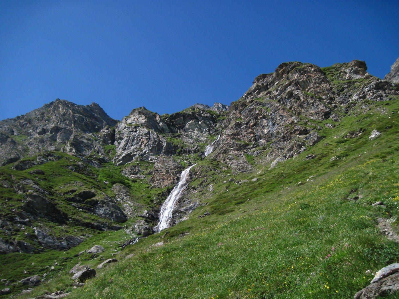 La cascata del lago dei Muret
