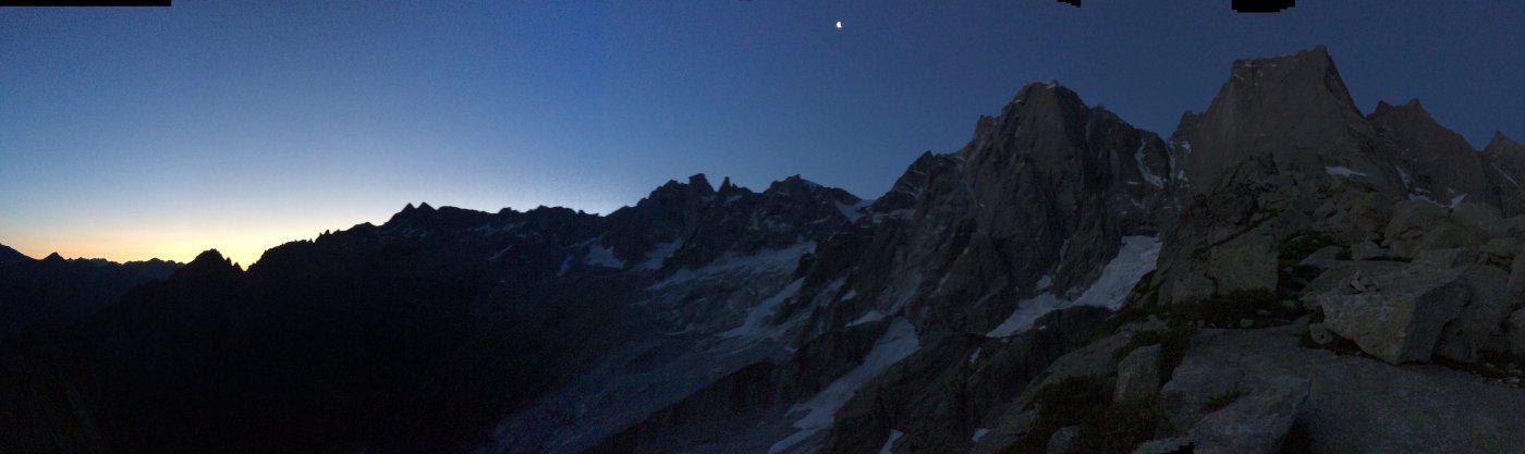 Avvicinamento con le prime luci dell'alba