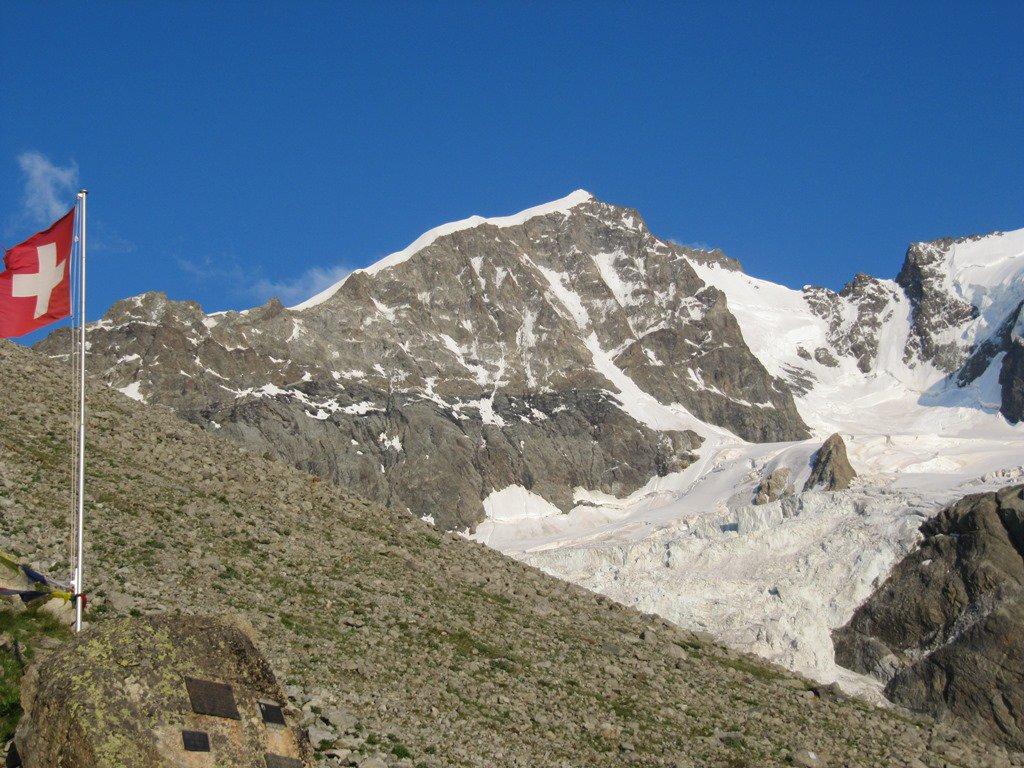 vista della Biancograt dal rif. Tschierva