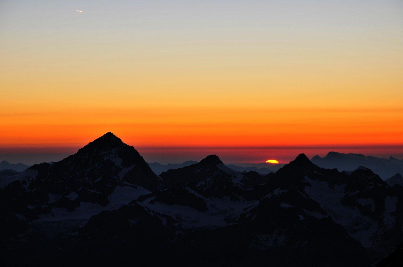 Tramonto tra Grand Cornier e Ober Gabelhorn