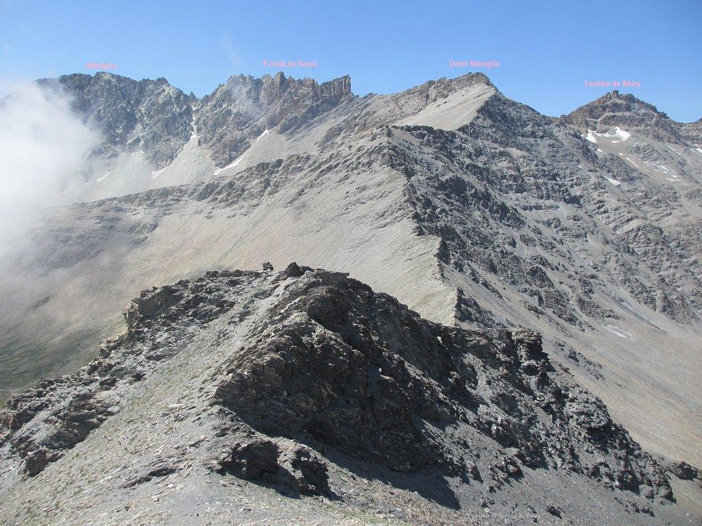 Panoramica vista dalla cresta ovest dell'Autaret