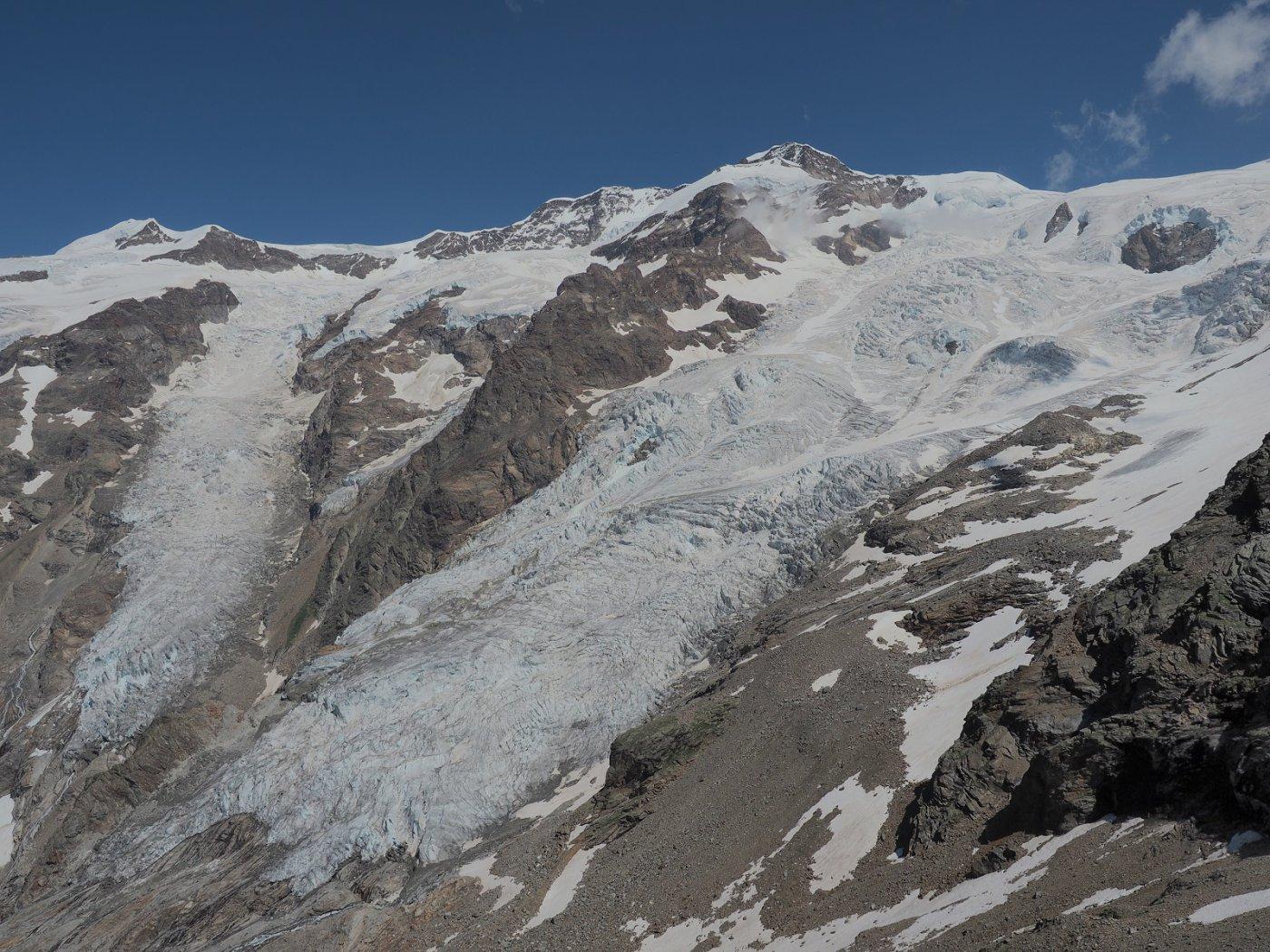 Vista stupenda sui ghiacciai dalla cima a quota 3348 m