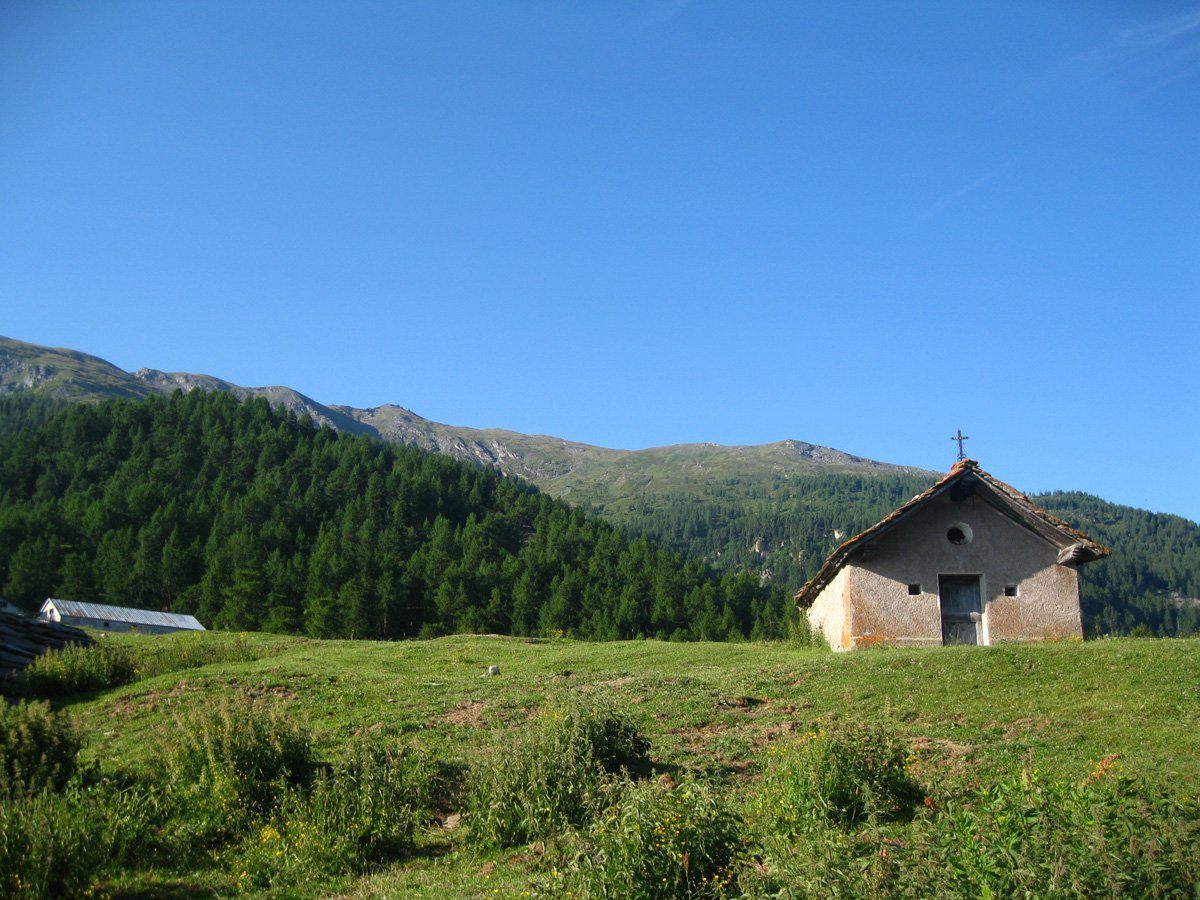 Arrivo all'Alpe Arguel