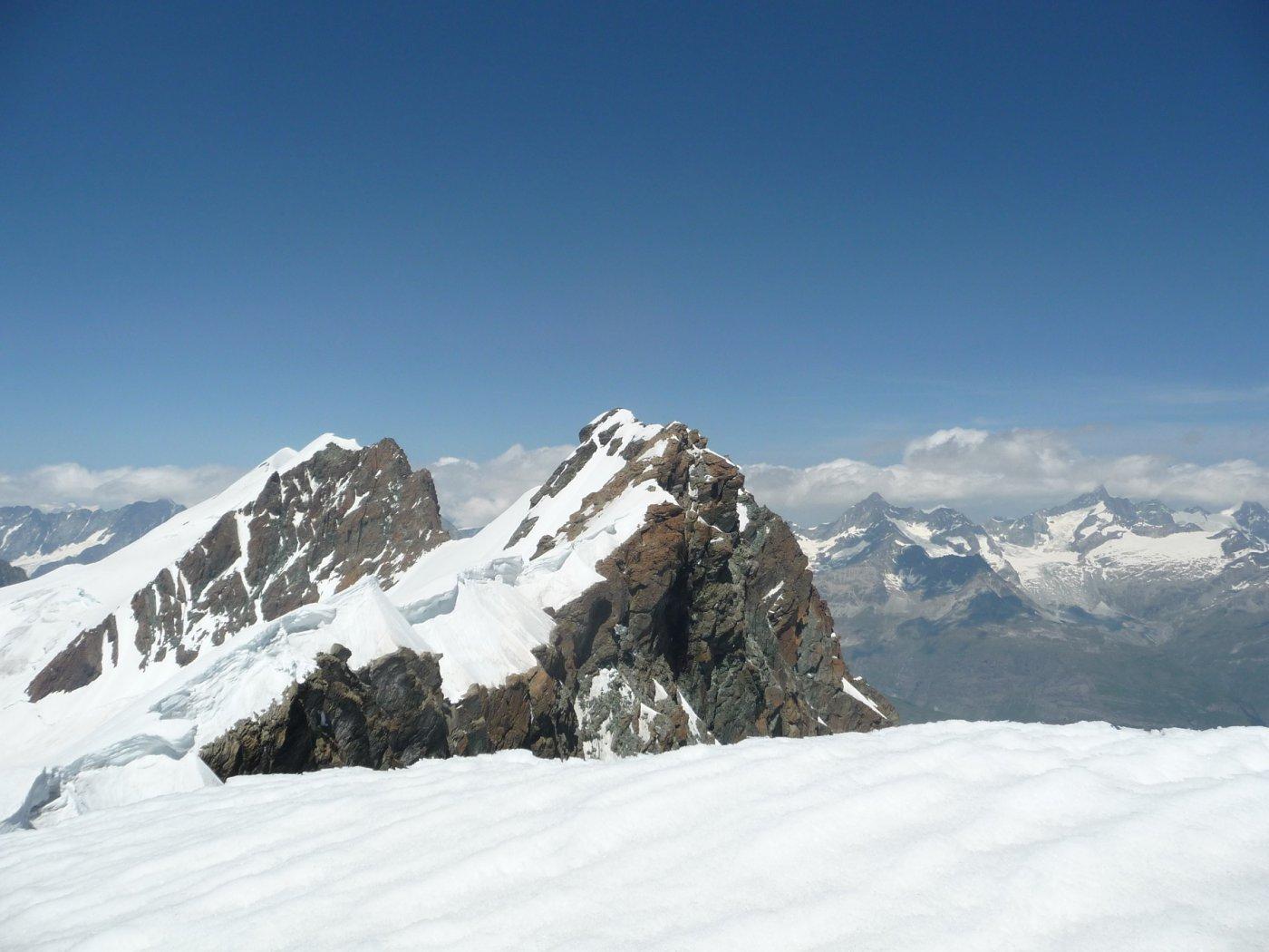 Cresta Breithorn dalla vetta Roccia Nera
