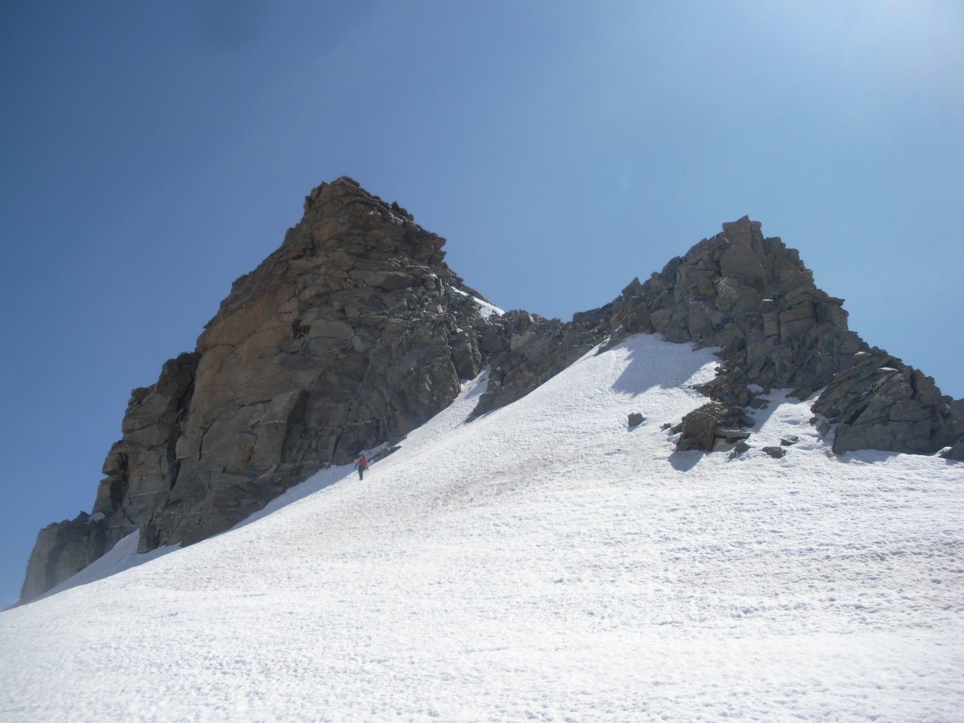la cresta ovest..dal Col Chamonin..