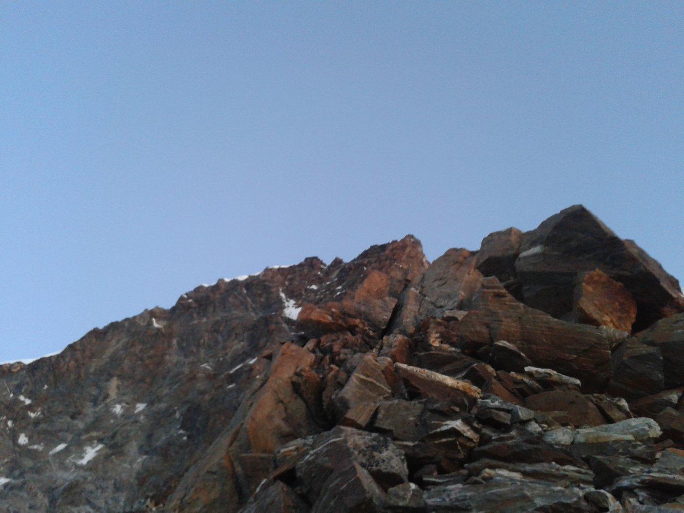 la qualità della roccia non è il massimo
