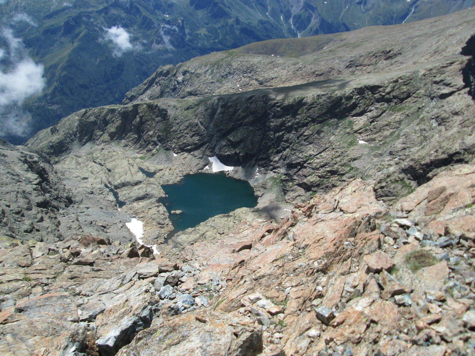 lago Mercurin dalla cima dell'Uja