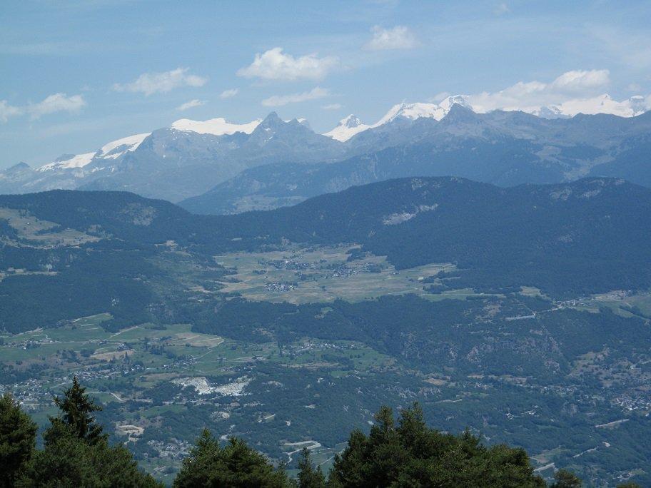 La catena del Monte Rosa vista dal punto più alto