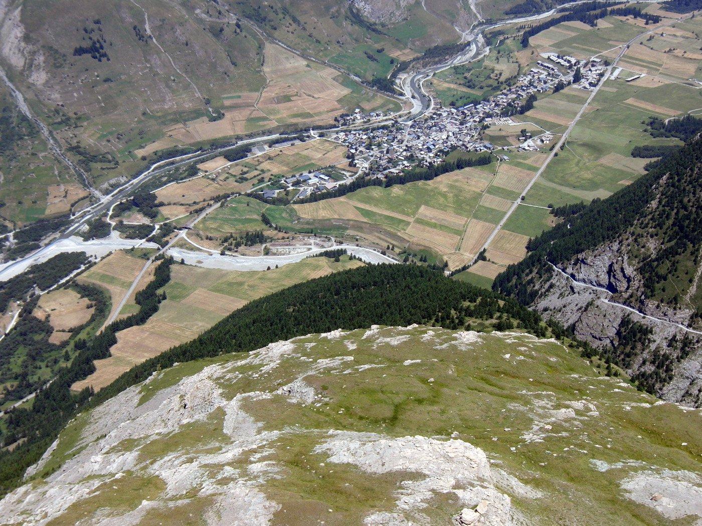 Vista aerea dalla vetta