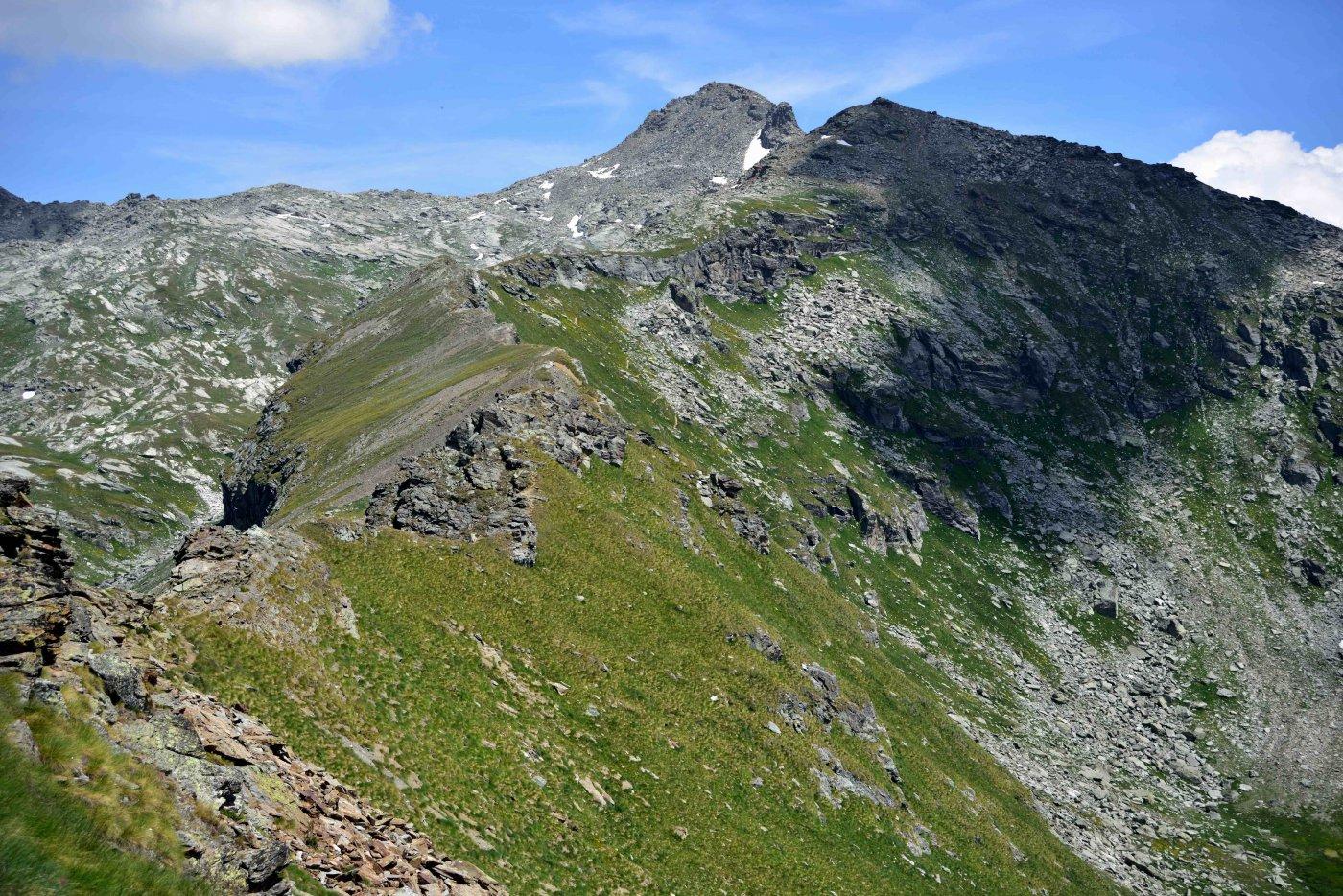 La cresta dal Corno Vitello alla Punta Palasina