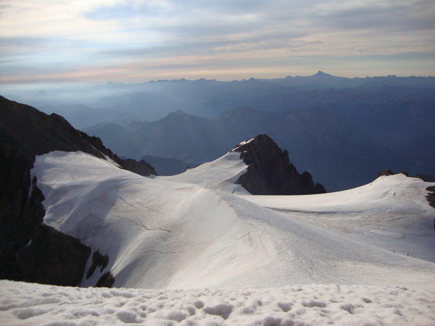 Dalla cima, Glacier du Pelvoux