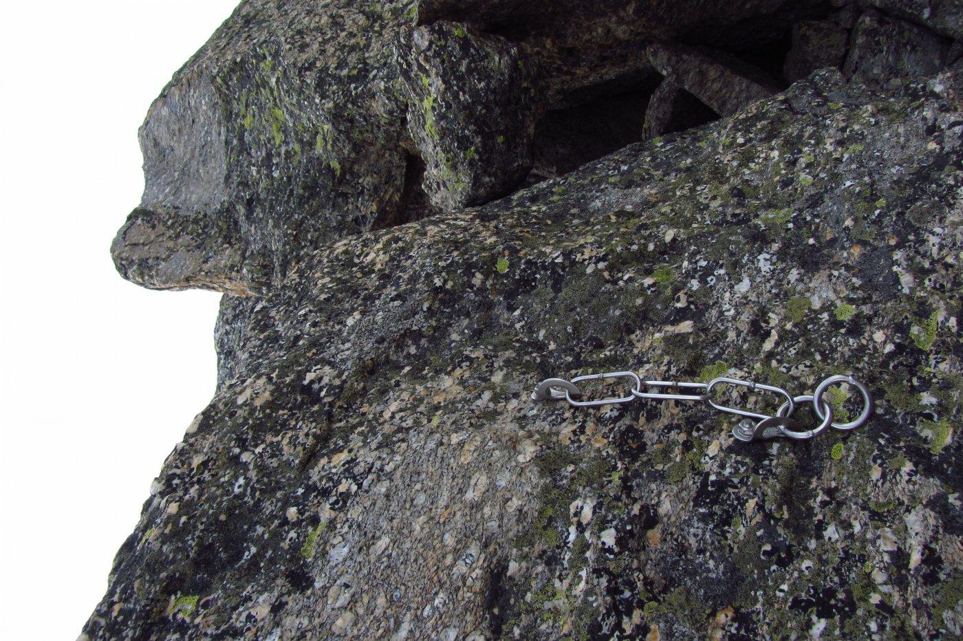 Le nuove soste a spit con anello di calata