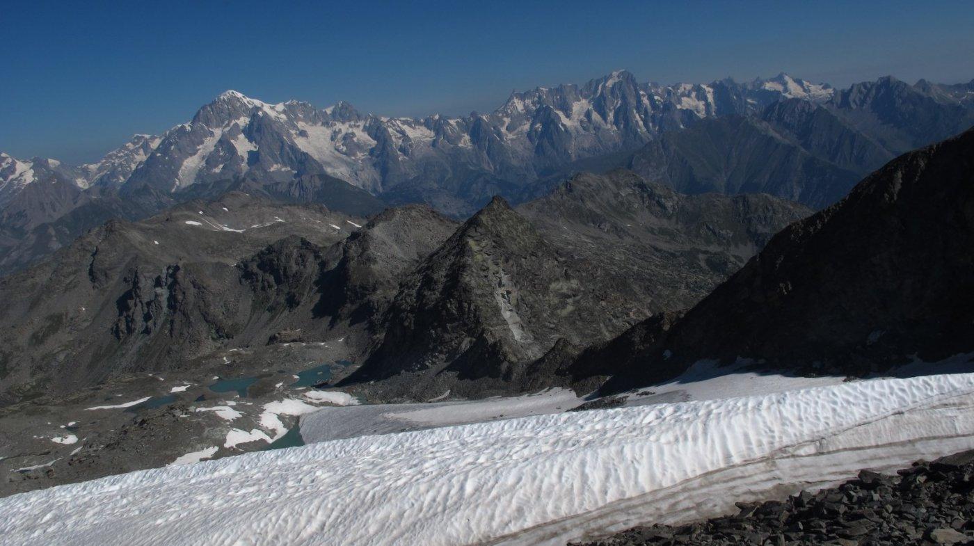 Vista sul Bianco dalla cima