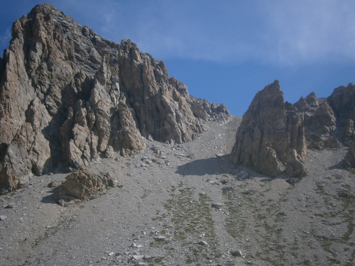 Canale di salita all'Enclausetta