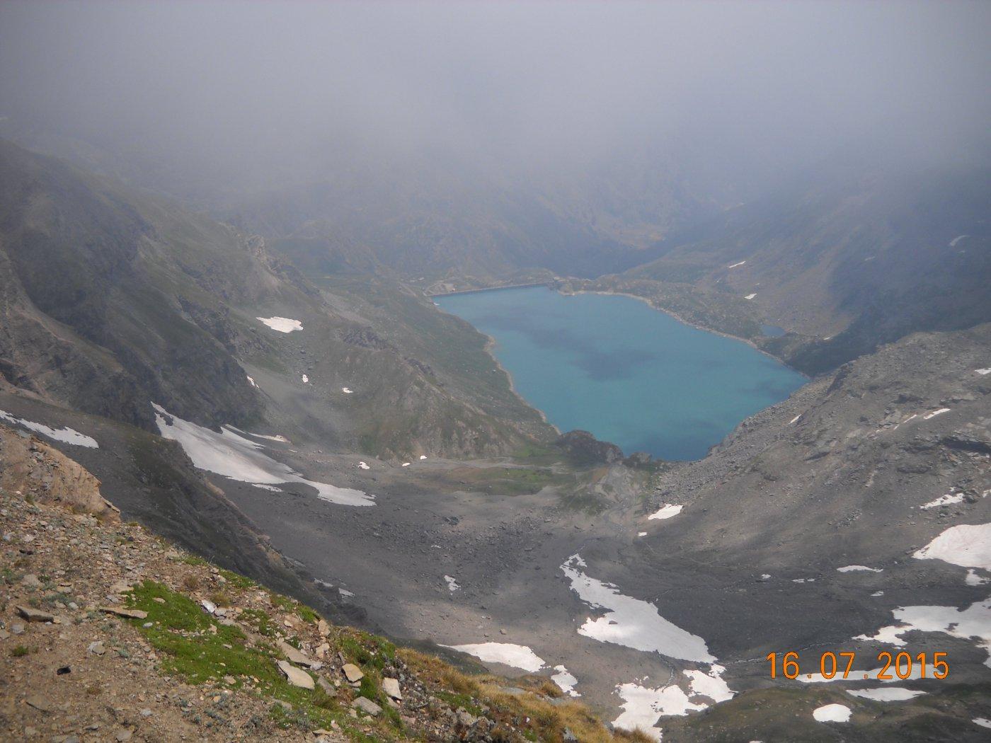 lago del serrù dalla cima