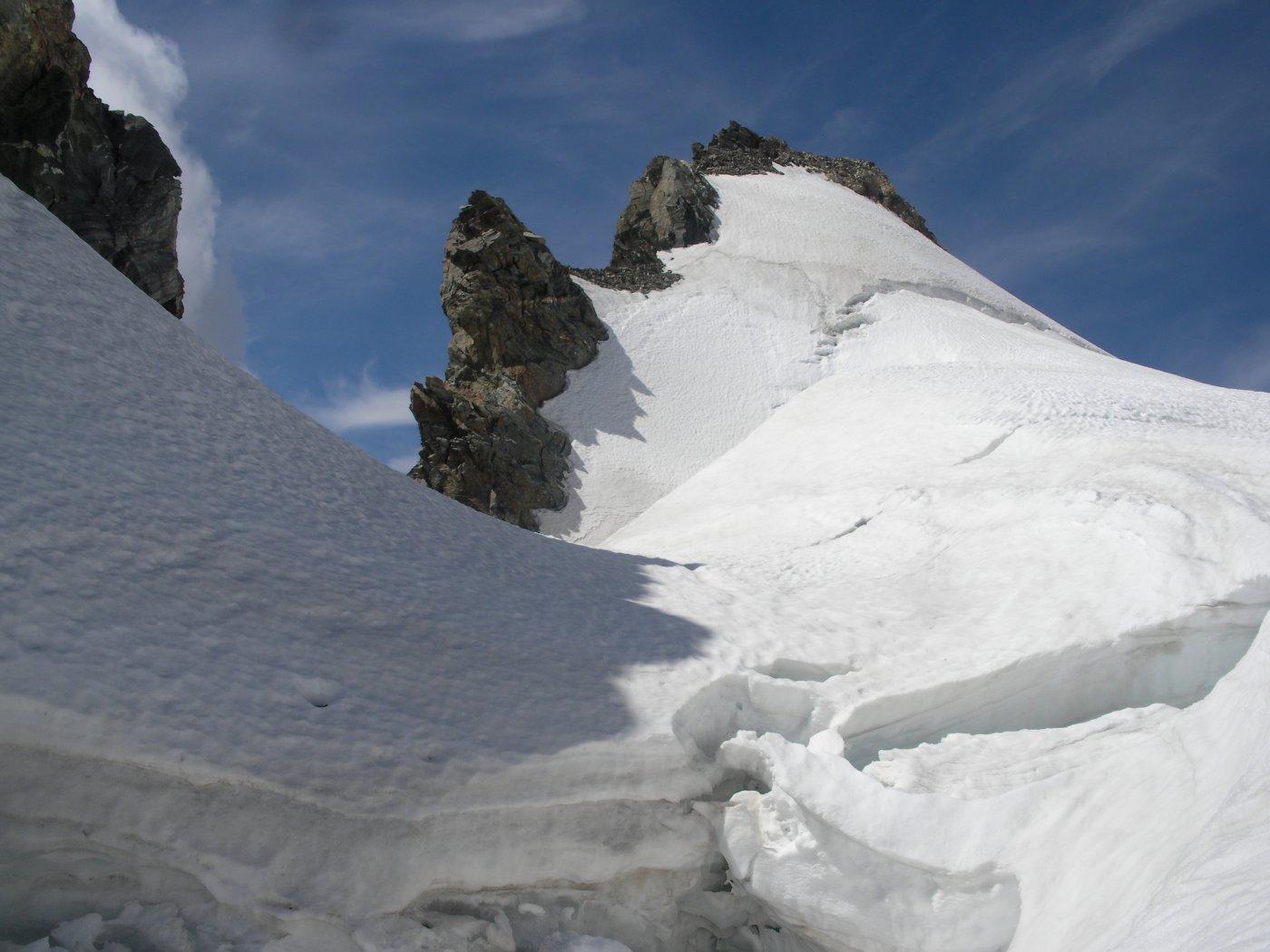il centrale da noi salito..visto dal ghiacciaio..