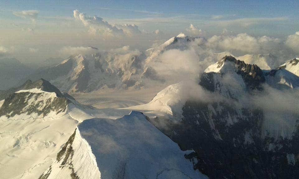 verso Aletschhorn e Concordia