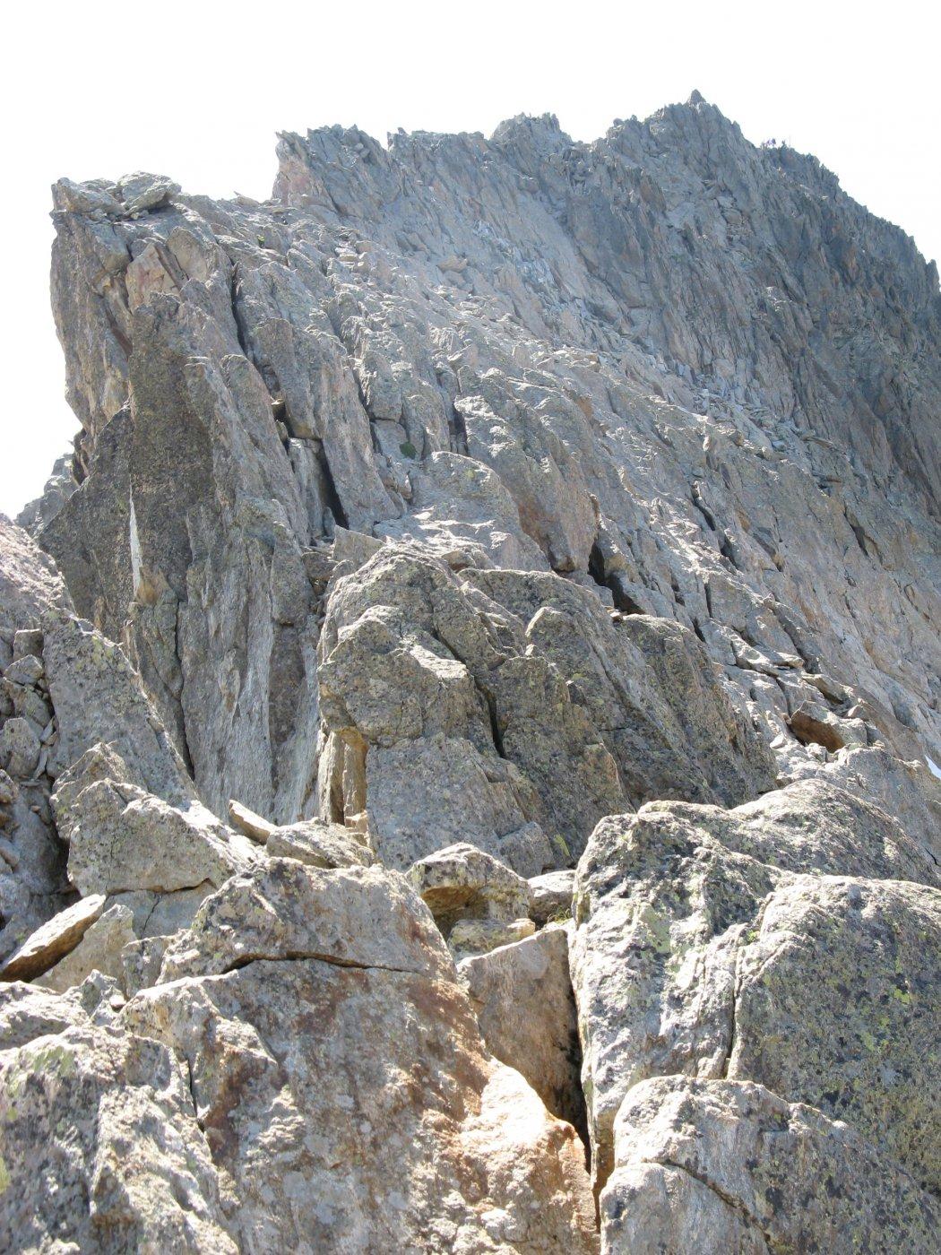 La cresta vista dal colle della Culatta