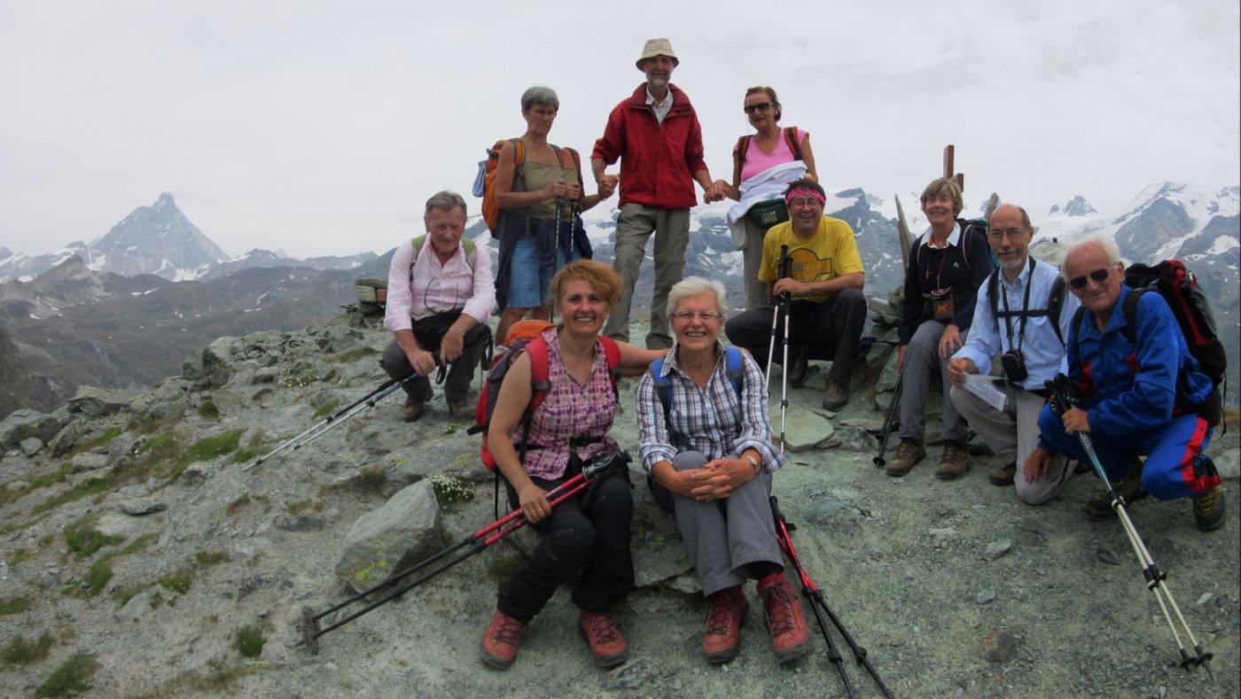 Sulla cima del Monte Croce