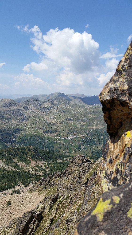 verticalità con sfondo Sant'Anna