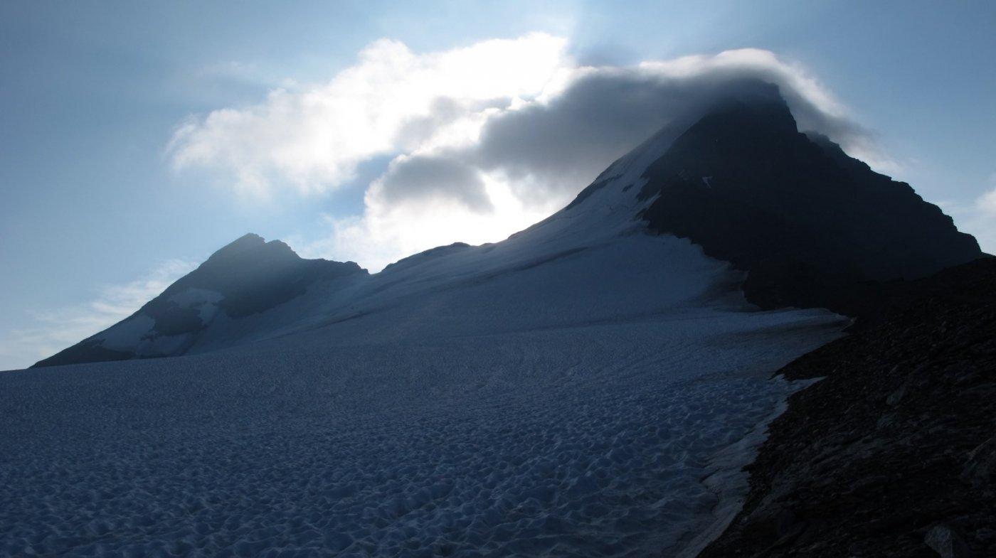 Punto in cui si mette piede sul ghiacciaio