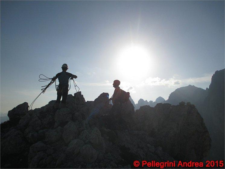 IMG_7793 Matteo e Enrico in vetta alla Pala del Rifugio