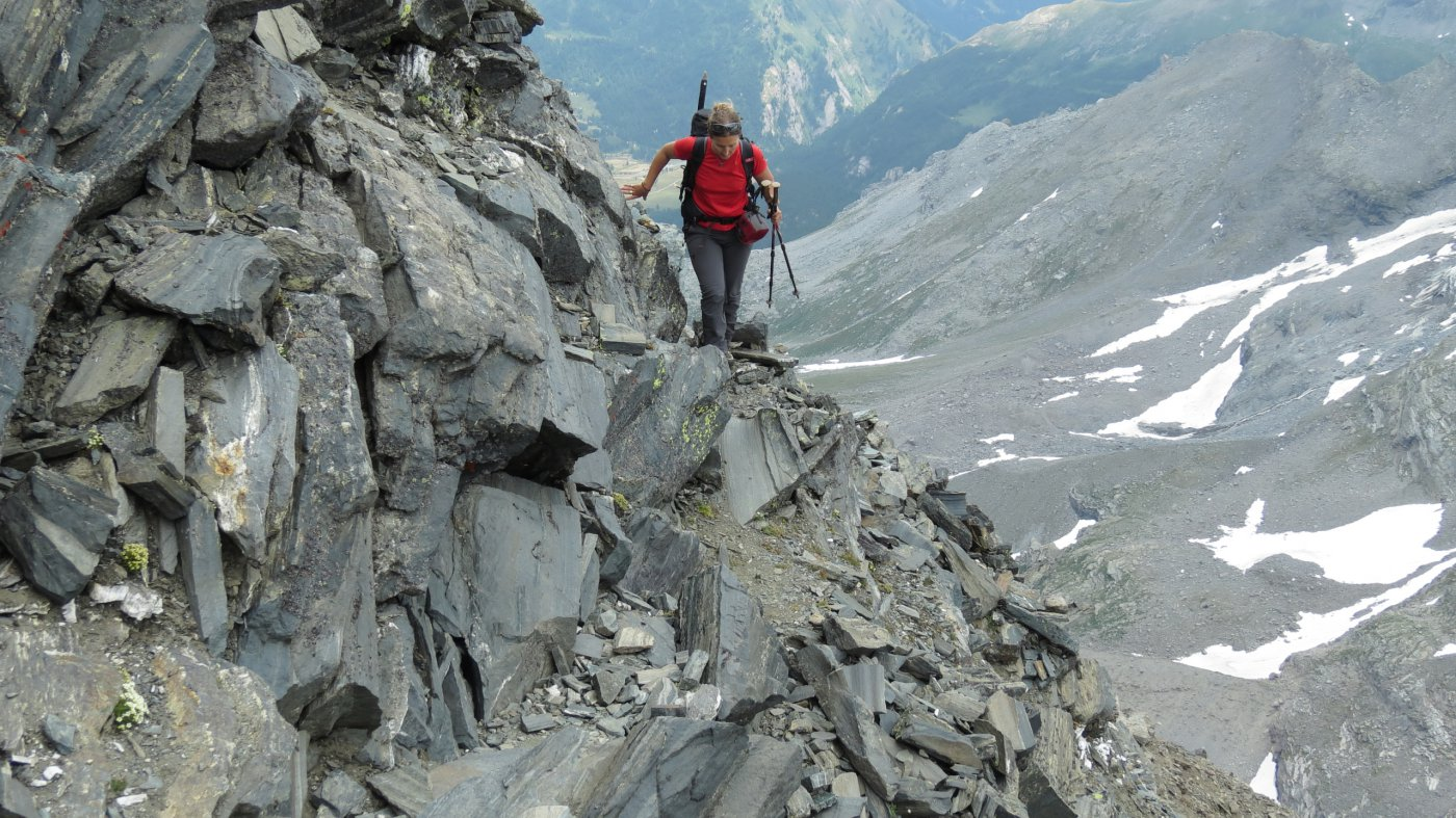 in salita lungo la cresta Sud del Wasenhorn..02 (18-7-2015)