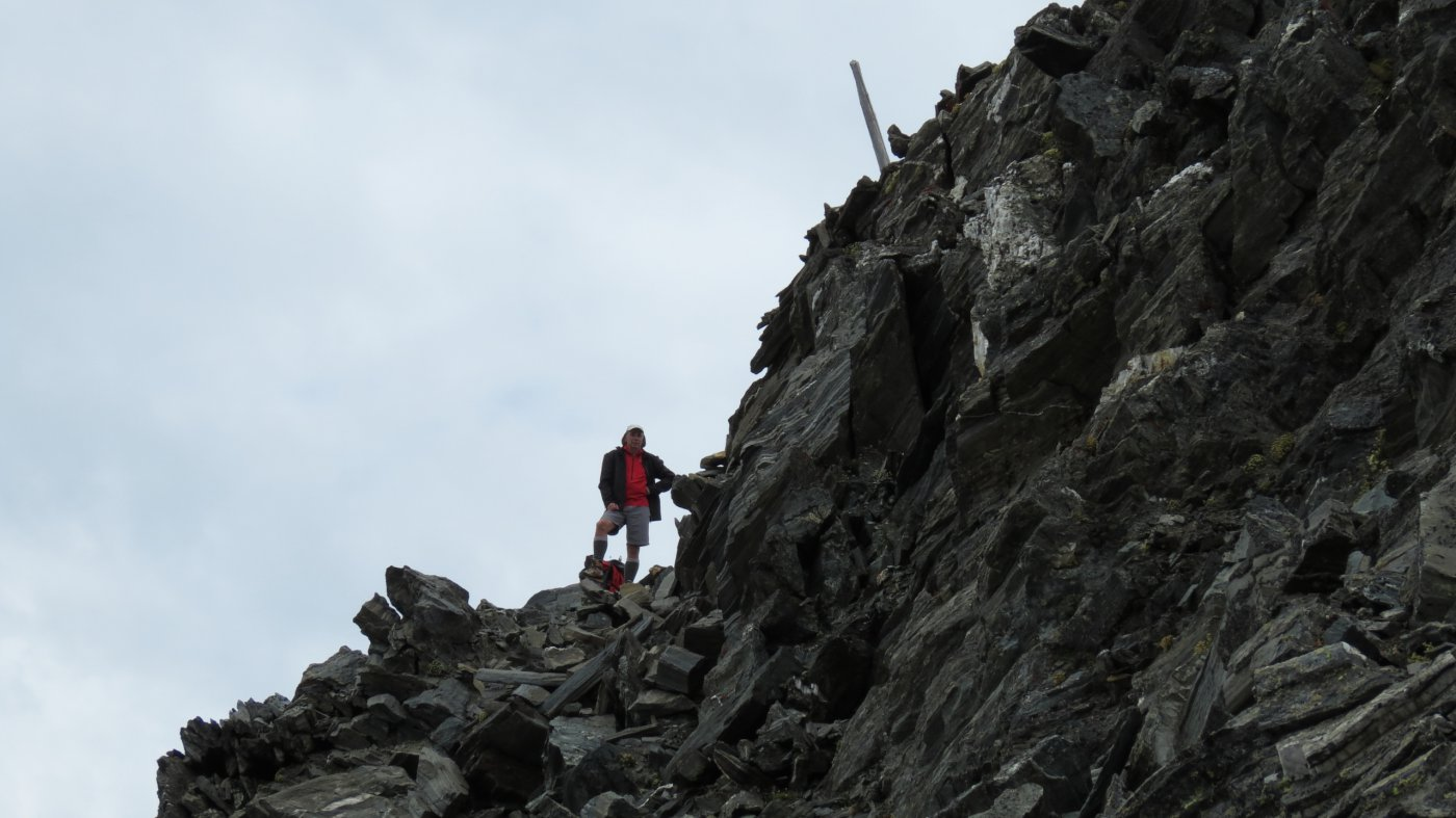 Davide a pochi metri dalla cima (18-7-2015)