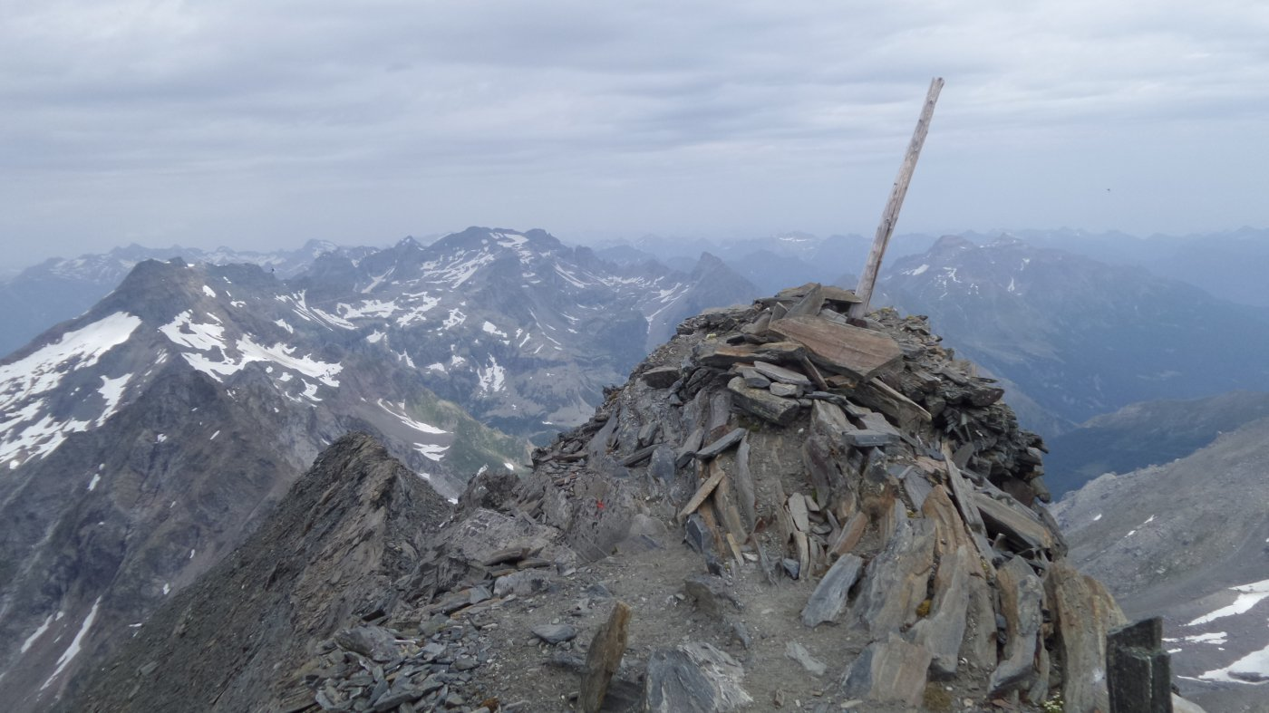 la vetta del Wasenhorn (18-7-2015)