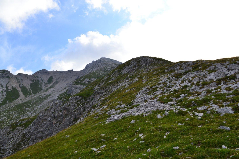 la cresta in direzione della cima