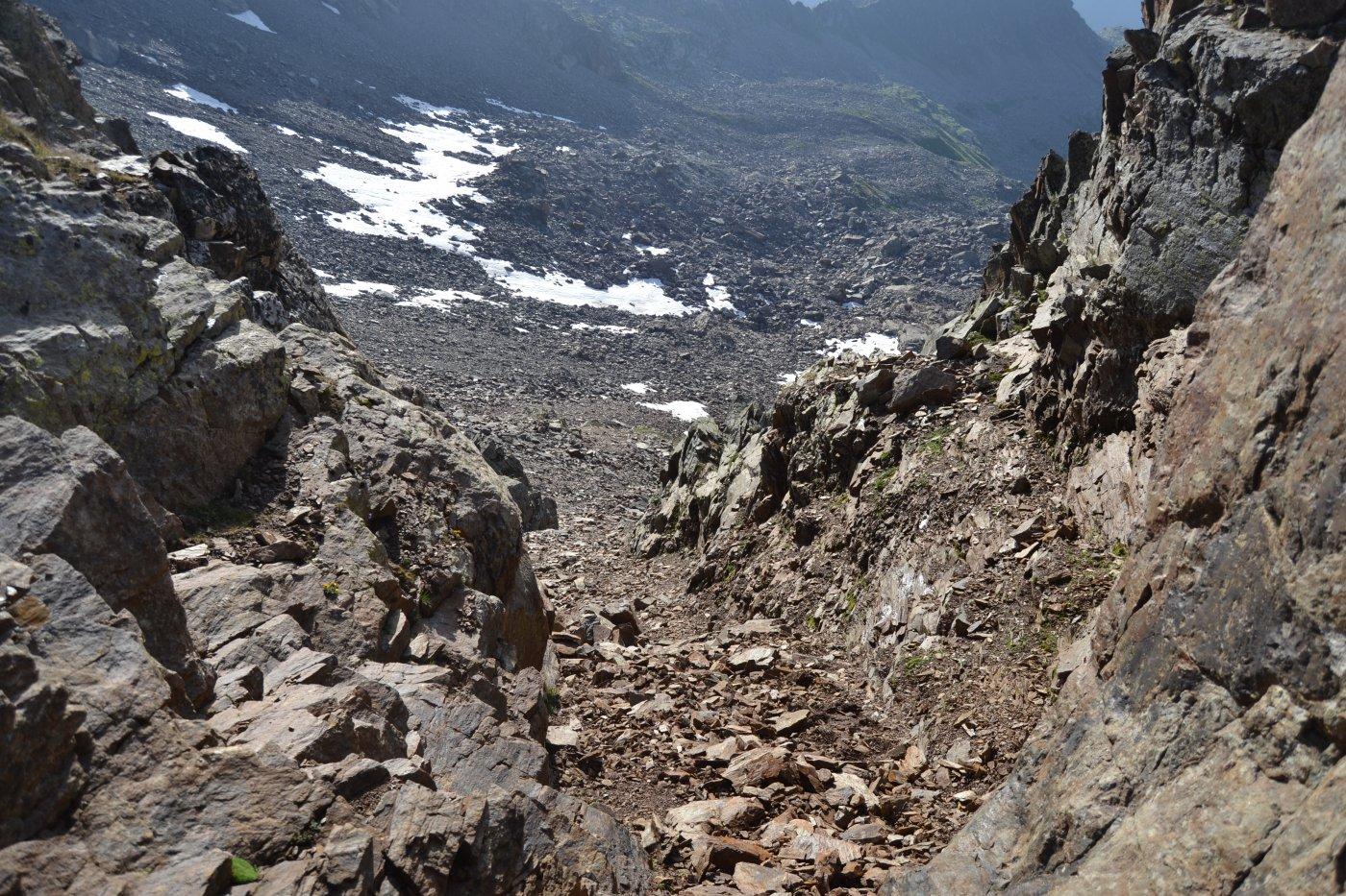 il colletto da raggiungere prima di affrontare la cresta