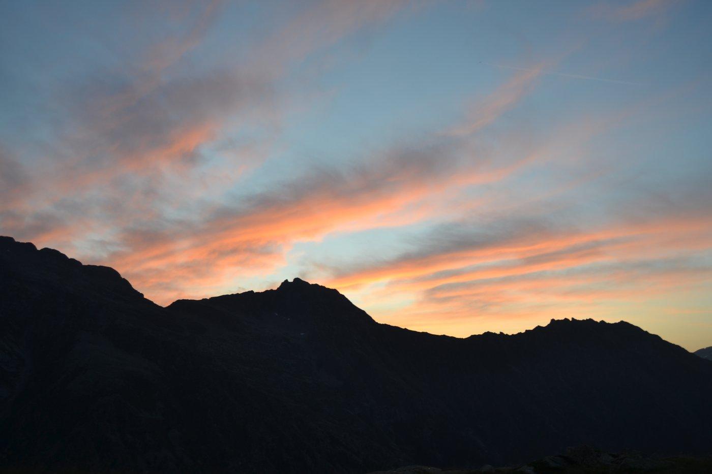 Prima alba sulla Fer e Gran Losa