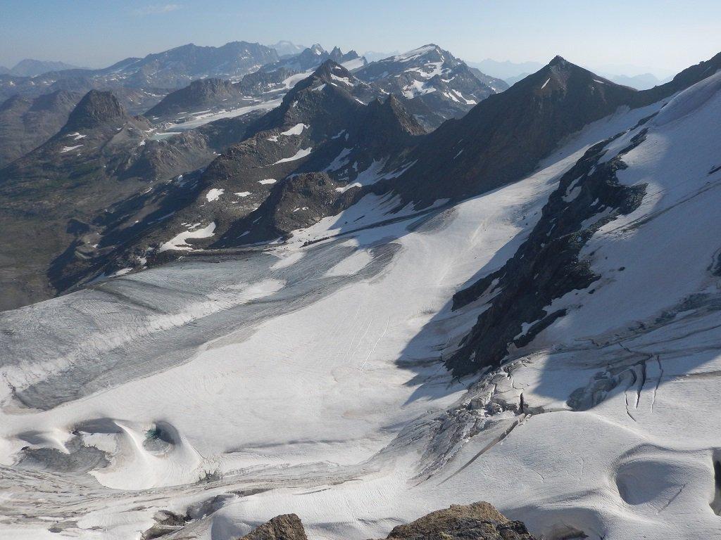 Glacier des Evettes dal Passo di Chalanson Superiore