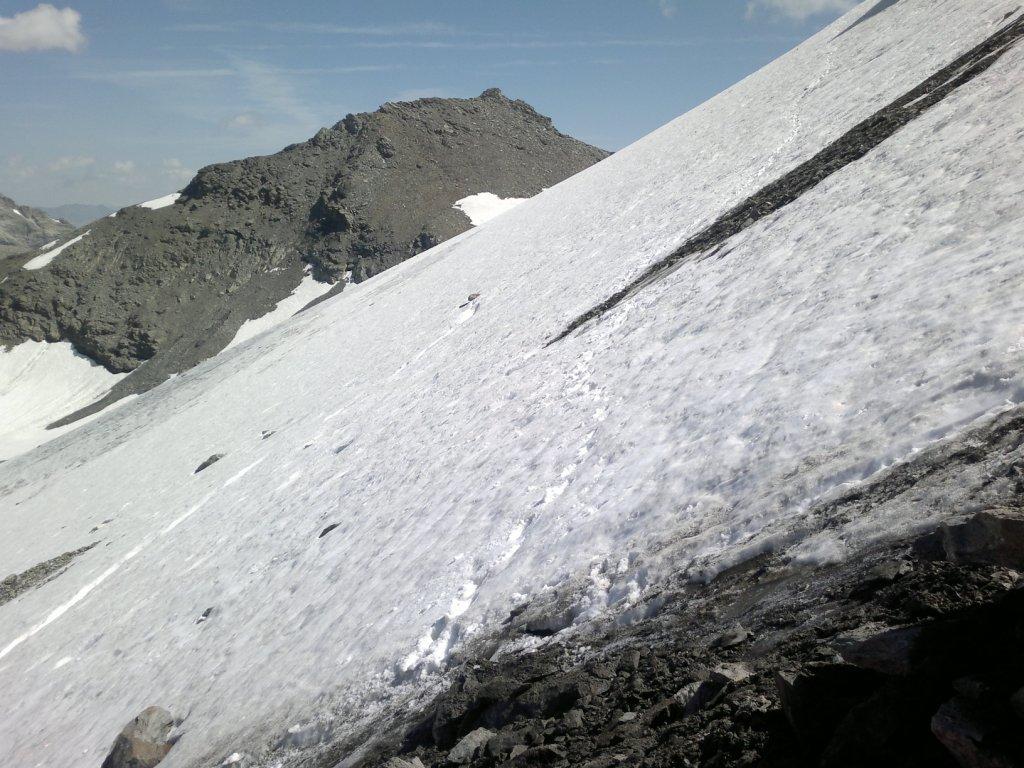 il traverso sul ghiacciaio dalla Ferrand