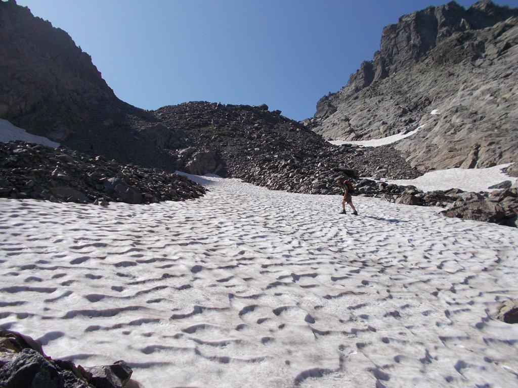 nevaio sotto il passo del Vallone