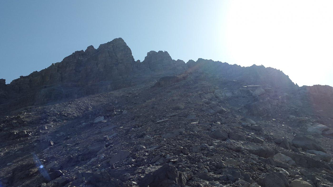 La vetta vista dal Col Du Portes