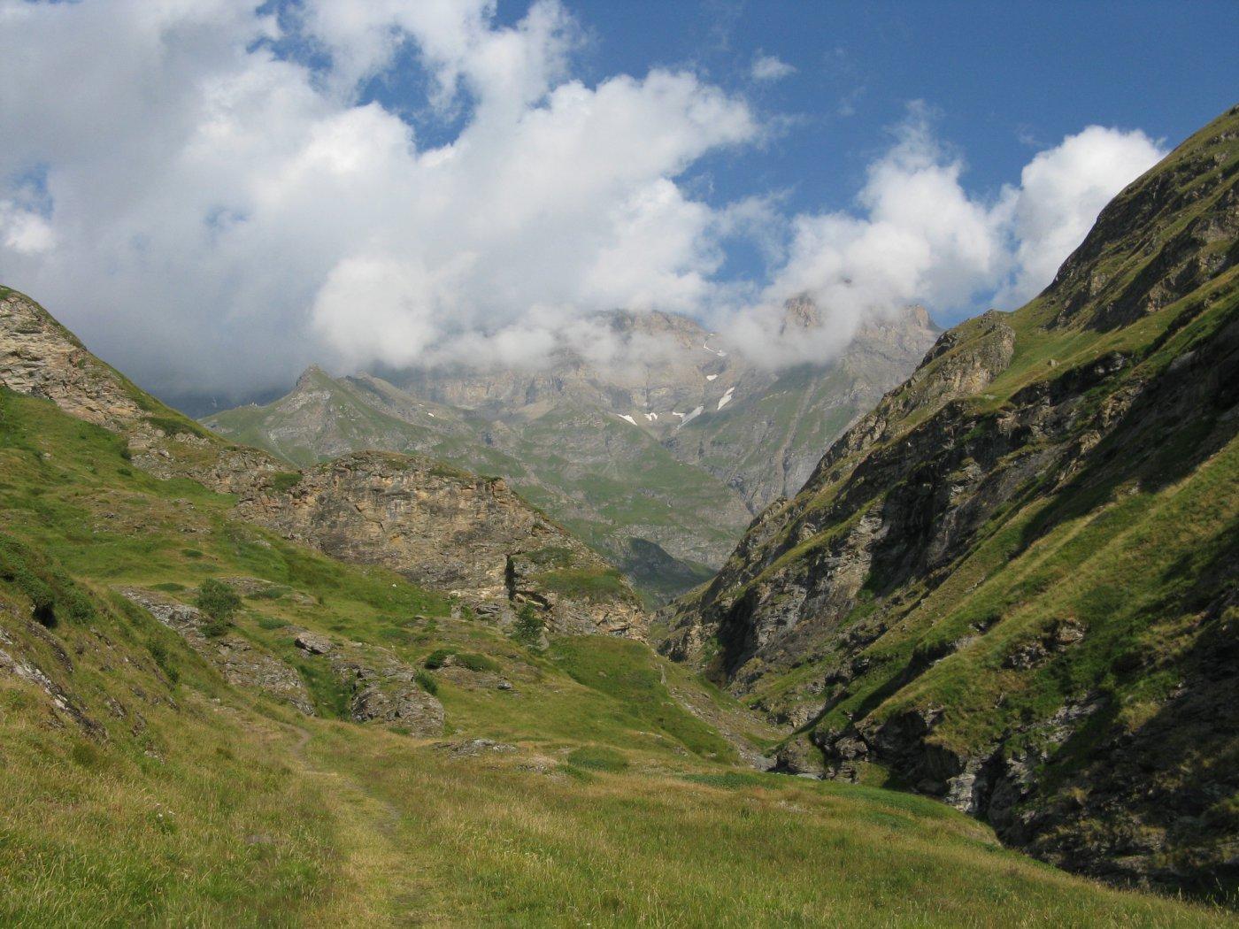 panorama sulle cime oltre il Tazzetti