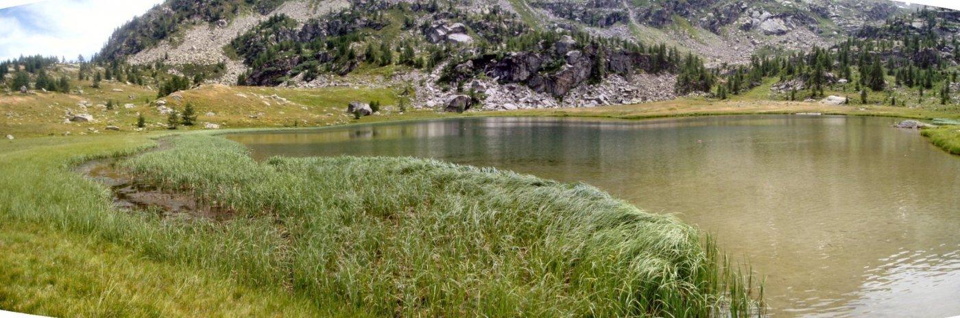 Il lago.