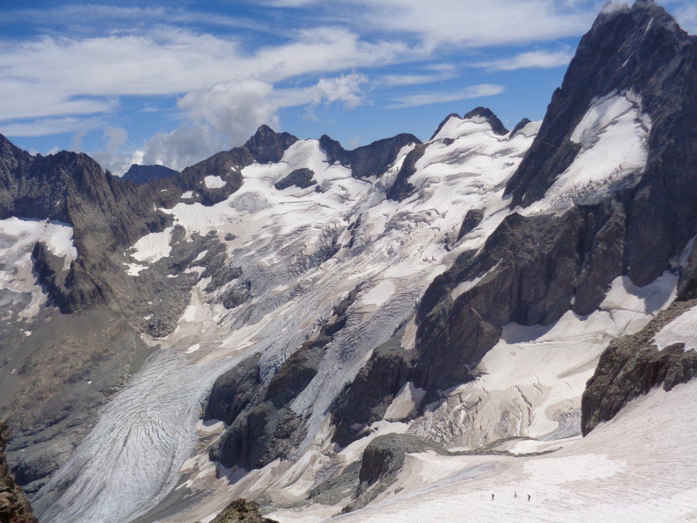 bacino glaciale della Pilatte ai piedi dei Bans