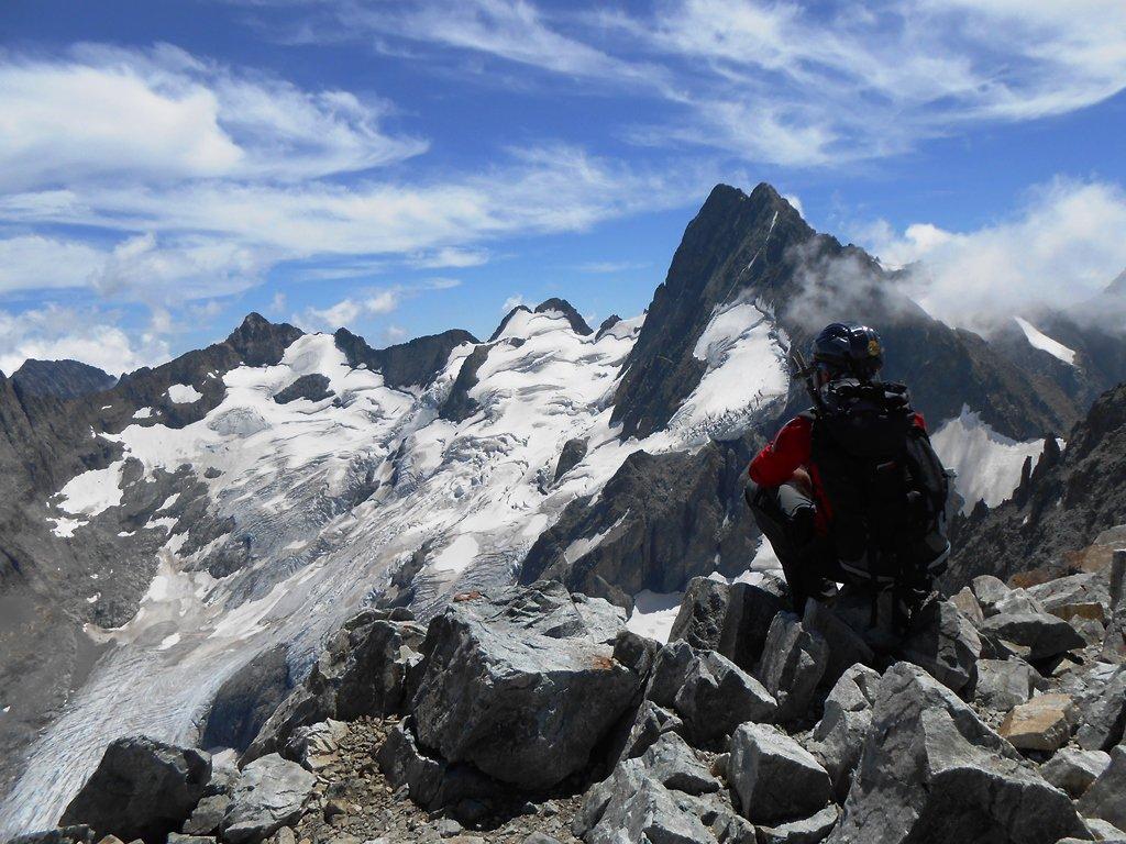 Nel silenzio della cima, i Bans ed il Glacier de la Pilatte