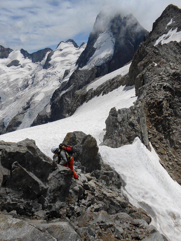 Ultime fatiche sulla cresta alla cima