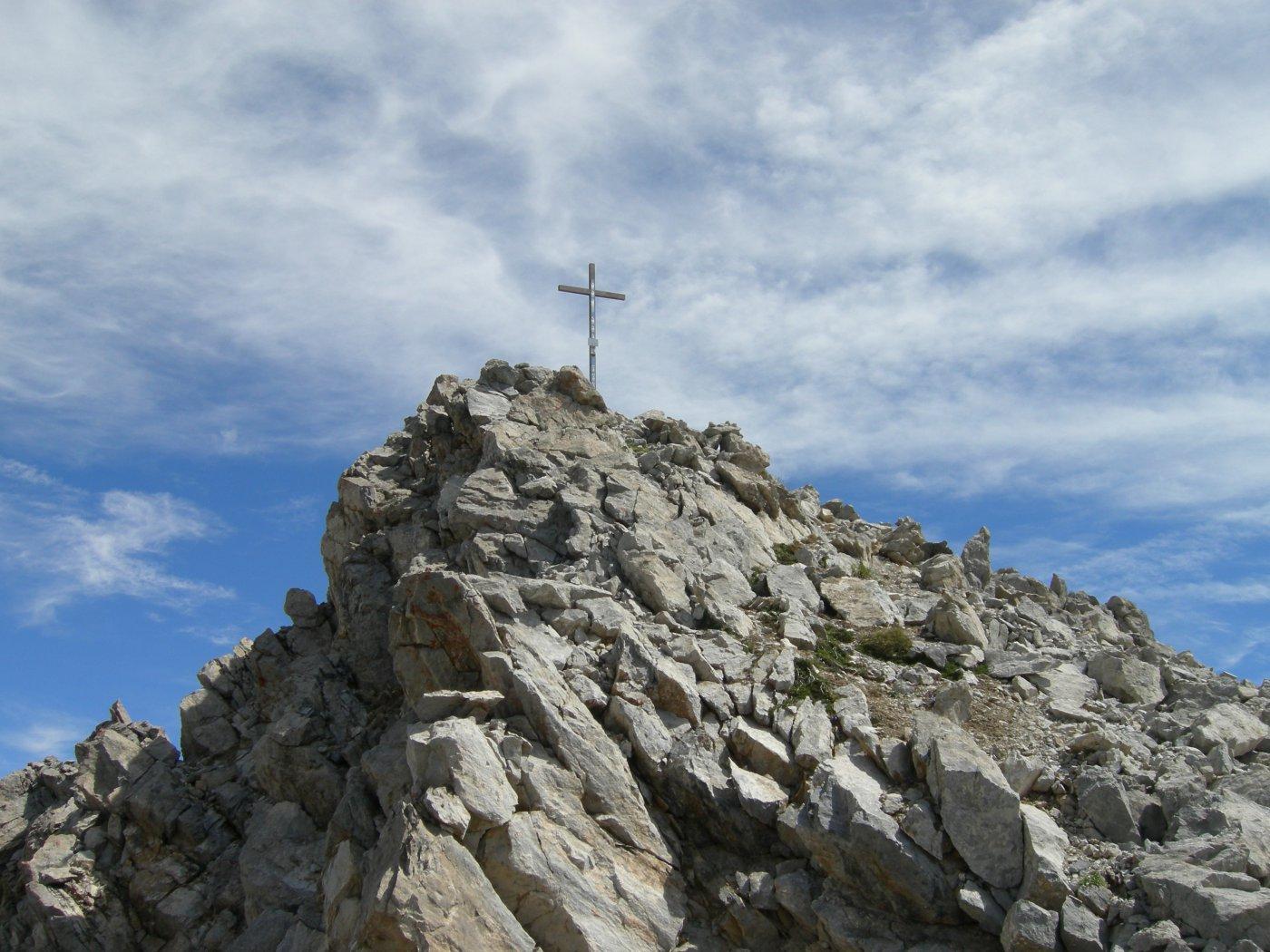 croce di vetta sulla Grand Hoche