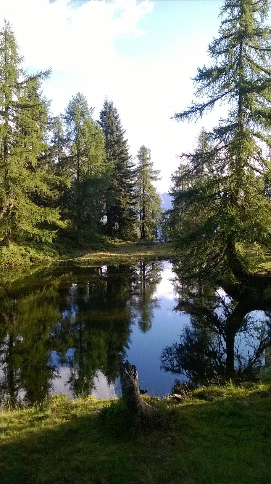 uno dei laghetti che si incontra prima di Campo Aostano